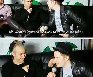 patrick stump, pete wentz, and fall out boy image