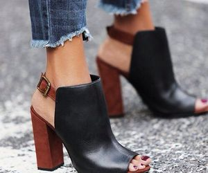 black, jeans, and mules image