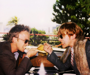 rupert grint, tom felton, and band of outsiders image