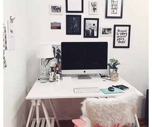 apple, decor, and desk image