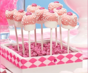 marshmallow, pink, and candy image