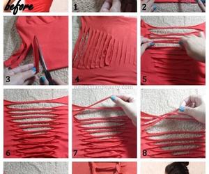 diy, red, and shirt image
