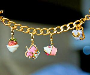 bracelet, cupcake, and strawberry image