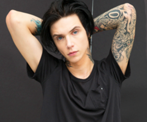 andy biersack, bvb, and black veil brides image