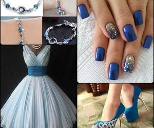dress, blue, and nails image