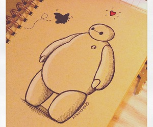 butterfly, big hero 6, and baymax image