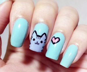 nails, cat, and heart image