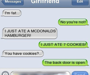 Cookies, couple, and fat image