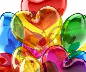colors, balloons, and heart image