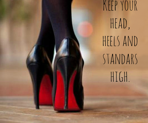 black, classy, and heels image