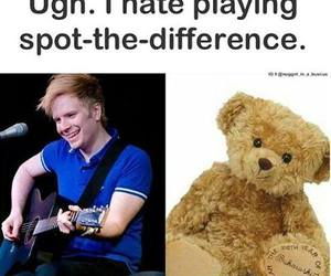 patrick stump, teddy bear, and spot the difference image