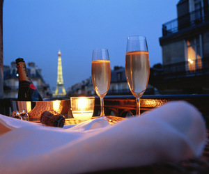 paris, love, and champagne image