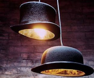 hat, lamp, and light image