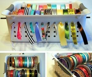 ribbon, crafts, and diy image
