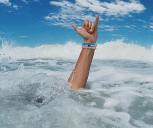 ocean, surf, and lokai image