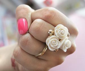 ring, rose, and nails image