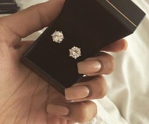 diamond, luxury, and earrings image