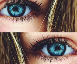 eyes, blue, and hair image