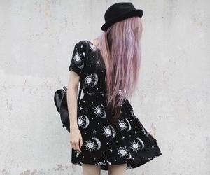 black, grunge, and hair image