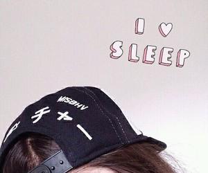 cap, girl, and hair image