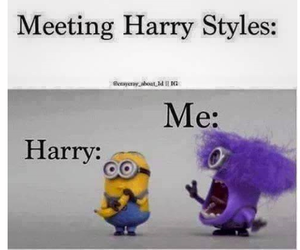 Harry Styles, one direction, and minions image