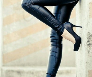 black, leather, and Hot image