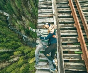 love, couple, and nature image