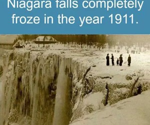 falls, frozen, and niagara image