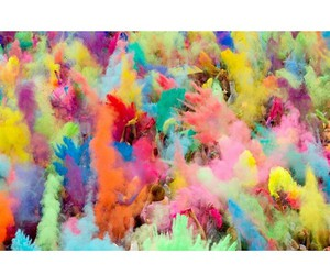 colors, hands, and holi image