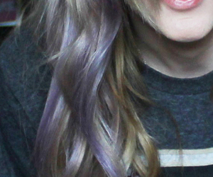 blonde, color, and purple hair image