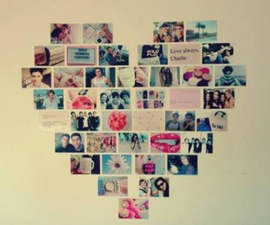 heart, pictures, and wall image