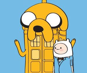 adventure time, doctor who, and finn image