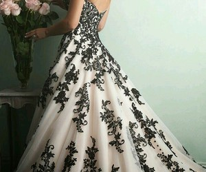 dress, black, and wedding image