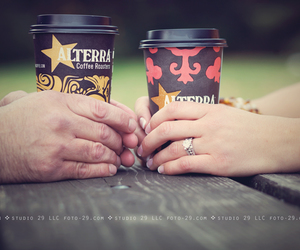 coffee, couple, and engaged image
