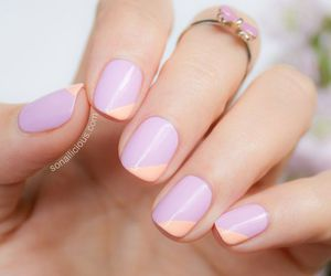 effective, lilac, and nails image