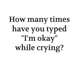 sad, okay, and cry image