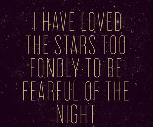 stars, night, and quotes image