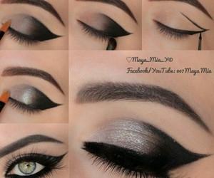 amazing, eye lashes, and eye liner image