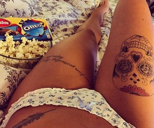 tattoo, fit, and skull image
