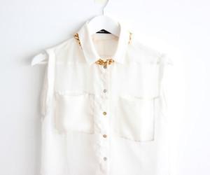 white, fashion, and collar image
