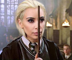 kim kardashian, harry potter, and draco malfoy image