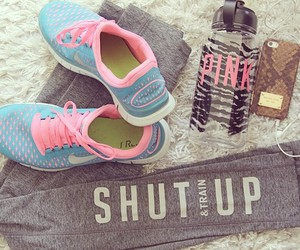 beach, nike, and fitness image