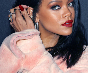 eyes, fashion, and red lipstick image