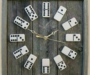 clock, diy, and domino image