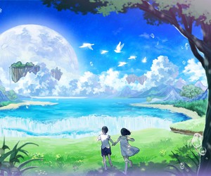 anime, scenery, and manga image