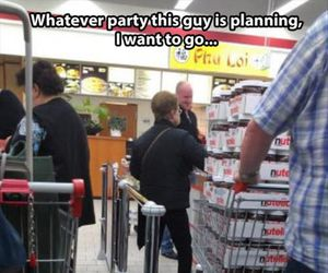 party, nutella, and funny image