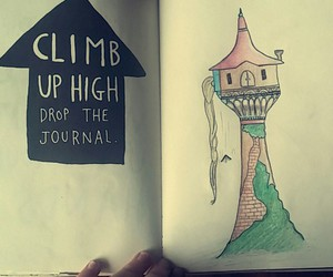 keri smith, rapunzel, and wreck this journal image