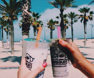 beach, cool, and drinks image