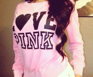 hair, Victoria's Secret, and love pink image
