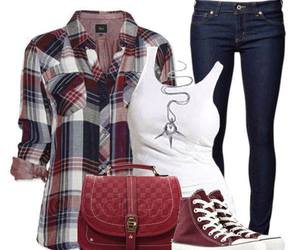 outfit, clothing, and moda image
